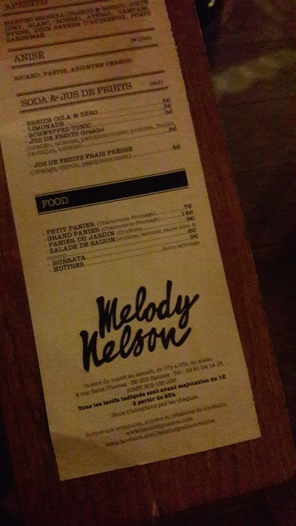 Melody Nelson bar rennes