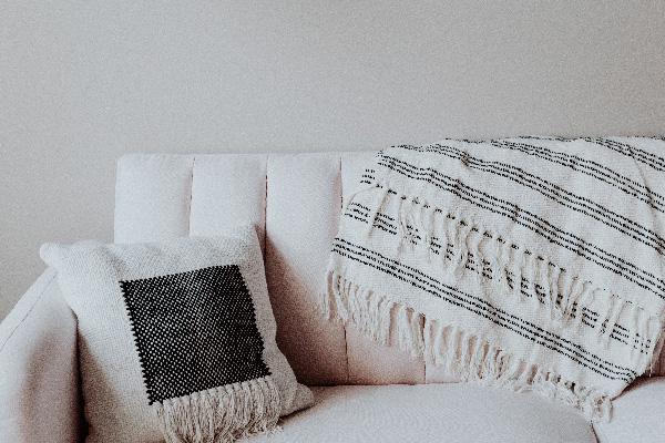 sofa salon cocooning déco