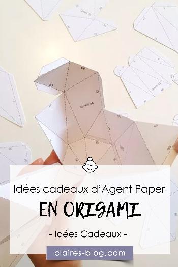Les idées cadeaux d'Agent Paper en origami #agentpaper #ideescadeaux #pliages #origami