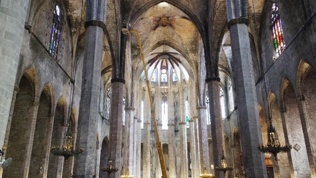 Barcelone-Espagne-Avril-basilique-santa-maria-del-mar