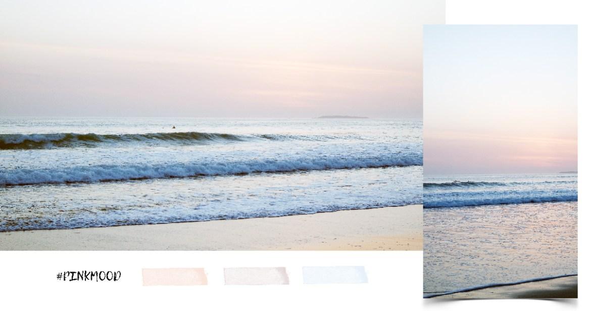 coucher du soleil sur la plage de quiberon bretagne