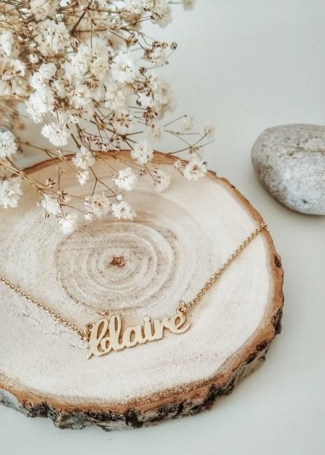 onecklace bijoux colliers or personnalisé prénom