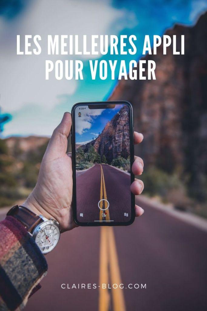 meilleures applications pour voyager