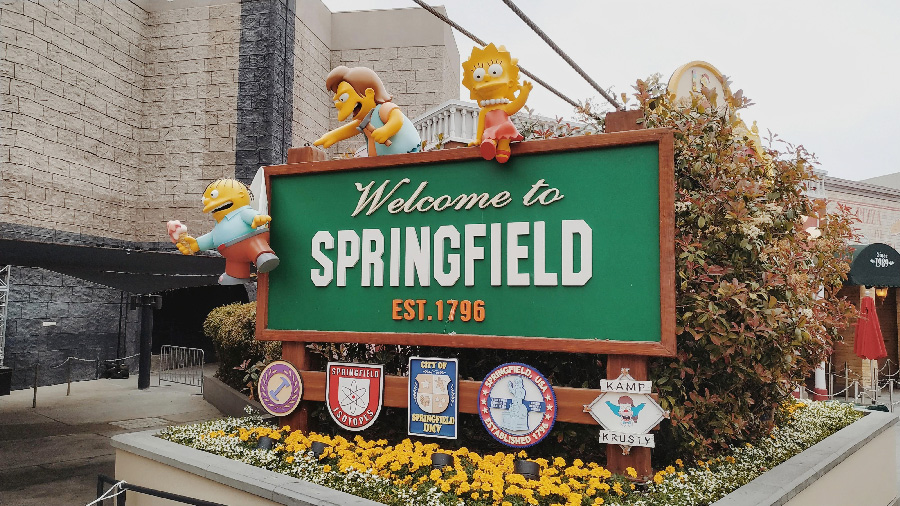 simpsons springfield los angeles