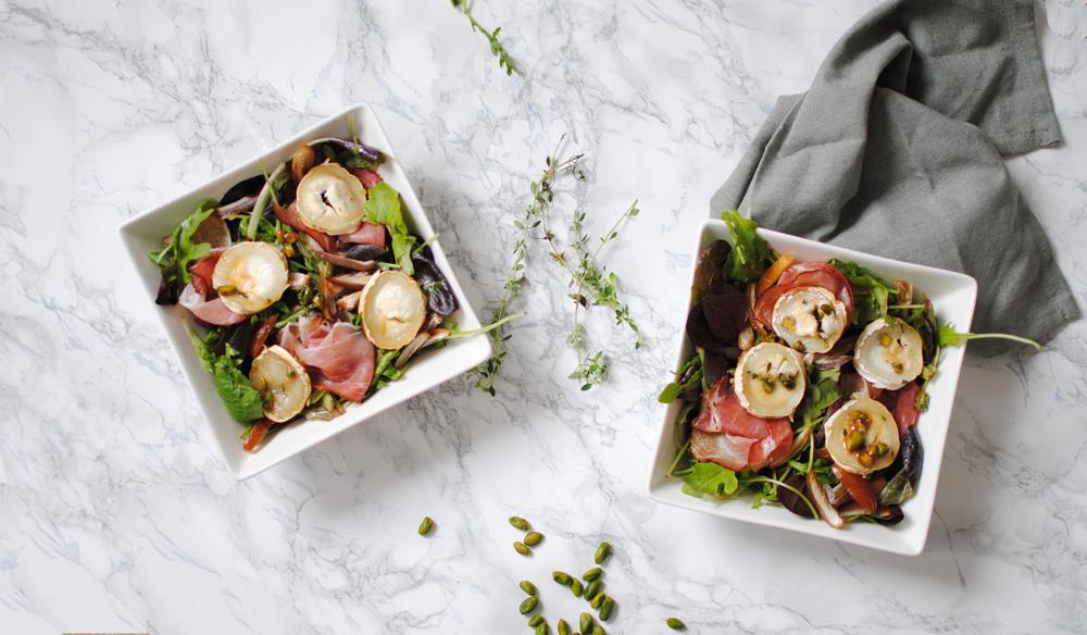 salade mesclun chèvre chayd kitchen daily