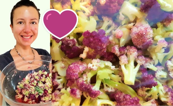 How to eat #cabbage or cauliflower raw? Digestion friendly recipe of raw vegan marinade Claire Samuel