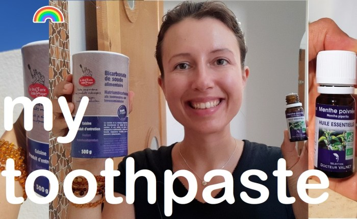 What are the 2 products I use to clean my #teeth ? natural #toothpaste