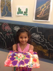 mandelas and chalk mural