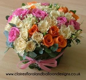 Rose gift arrangement