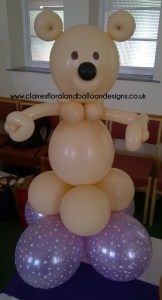 Balloon bear character