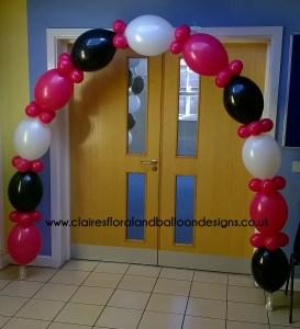 Quick link balloon doorway arch