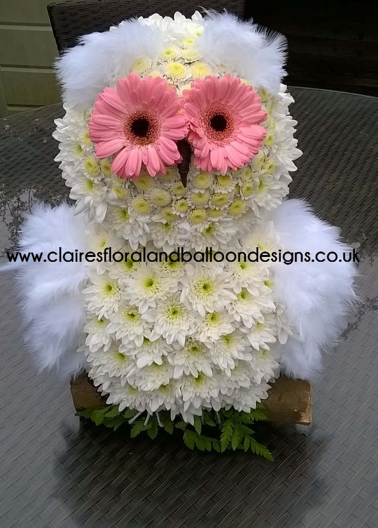 Floral Owl Funeral Tribute Norwich Florist Balloon Designs For