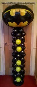 Batman themed balloon column