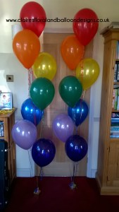 Latex balloons in rainbow colours