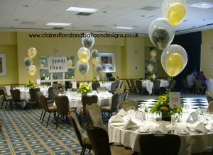 Double bubble party balloon table centres