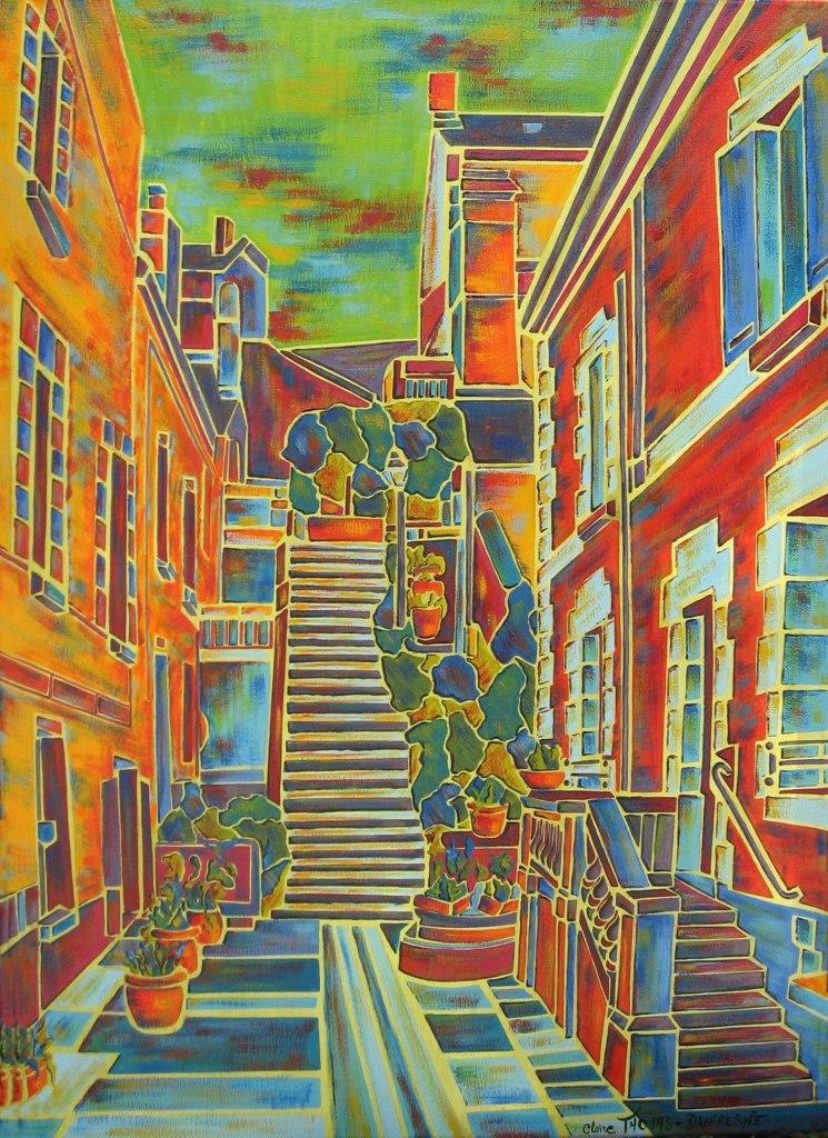 Peinture acrylique paysage Blois