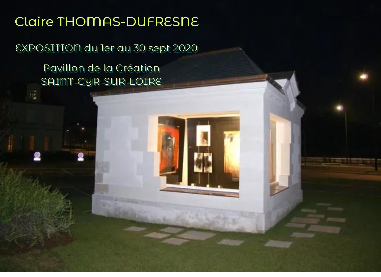 PAVILLON DE LA CRÉATION du 1er au 30 sept 2020 Saint-Cyr-Sur-Loire