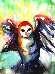 Watercolor of Owl