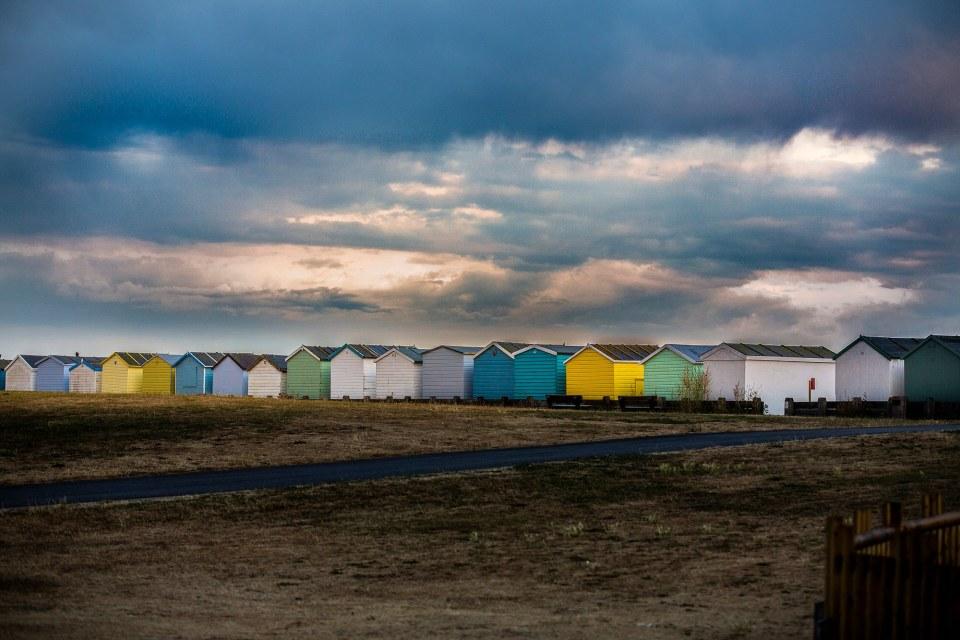 Beach huts at Lancing