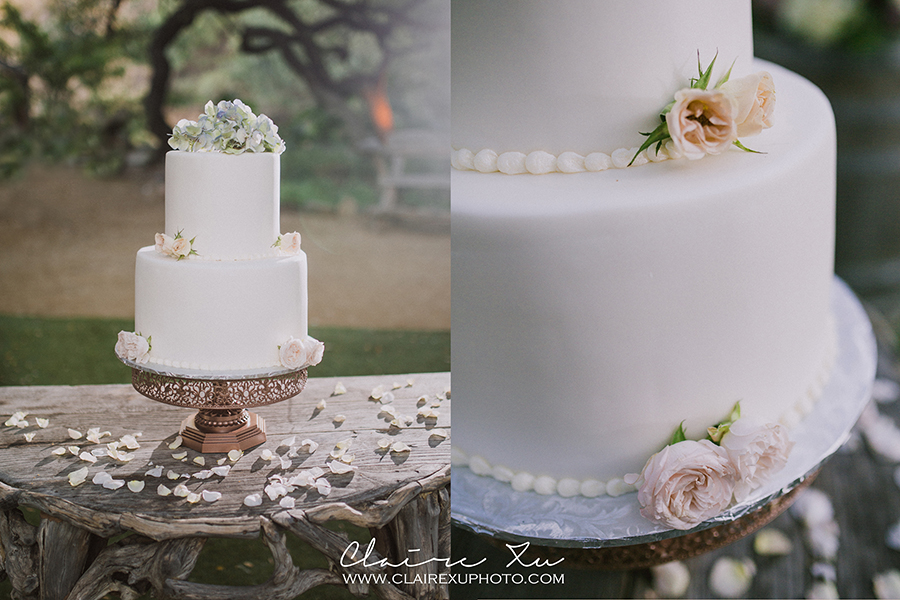 Oak Canyon Ranch Wedding Cake Detail