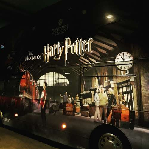 Londres - bus pour les studios d'Harry Potter - Claironyva