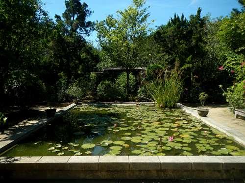Jardin d'une maison traditionnelle à Hue