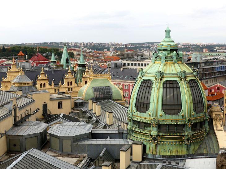 Prague Vue de la tour de la Poudrière Claironyva