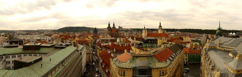 Prague Claironyva Vue de la Tour de la Poudrière