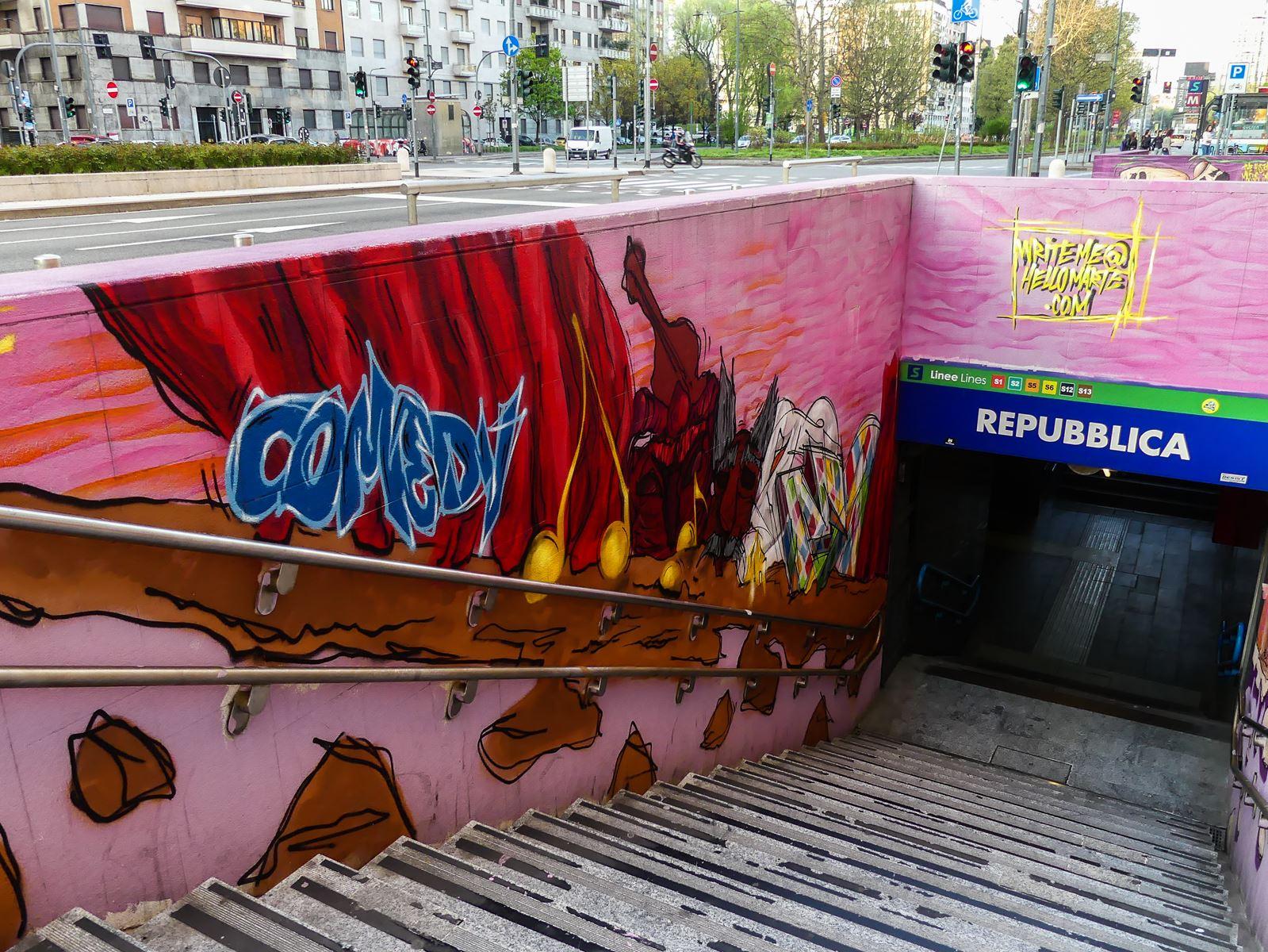 claironyva italie milan metro street art