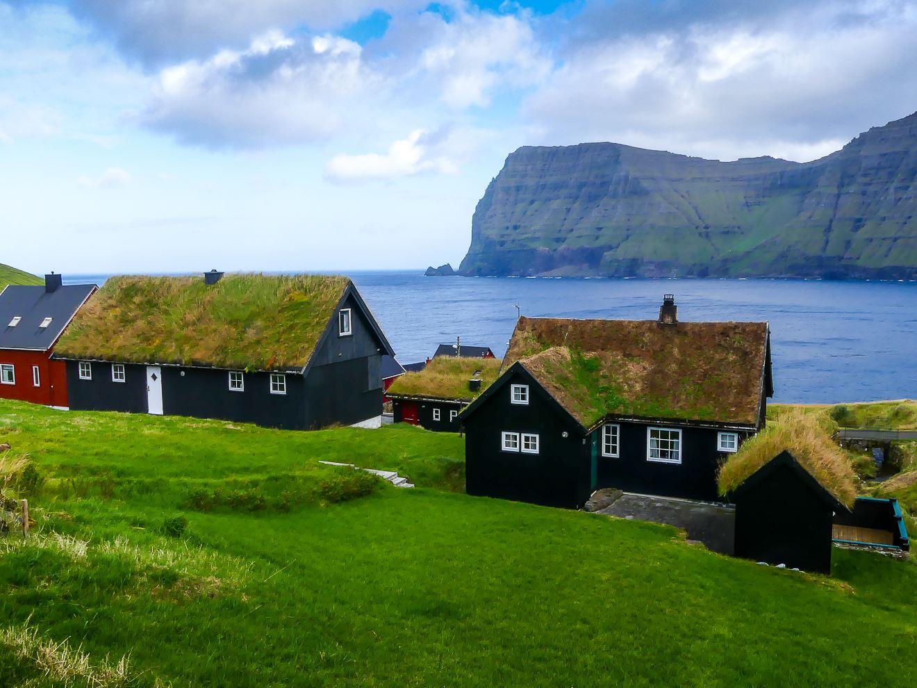 Village typique des Iles Feroe