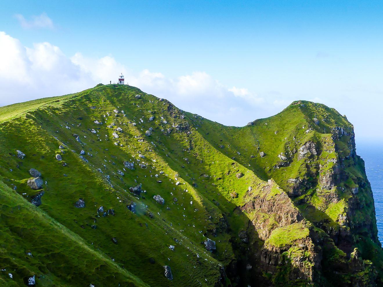 Iles Feroe :Randonnée depuis Trollanes pour le phare de Kallur