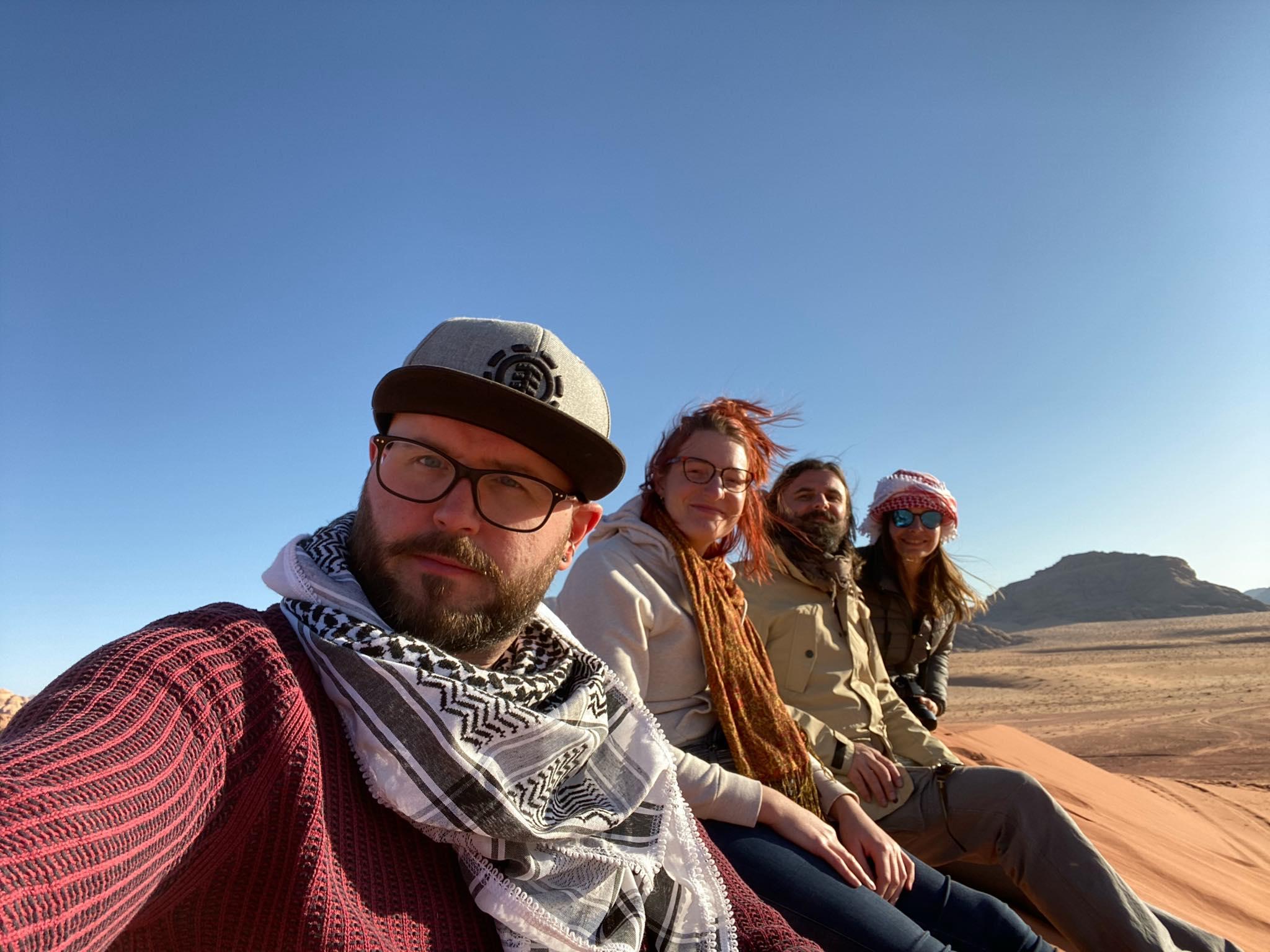 Selfie dans le Wadi Rum