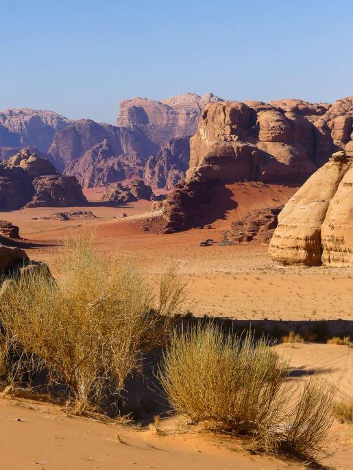 Ma vue préférée du désert du Wadi Rum