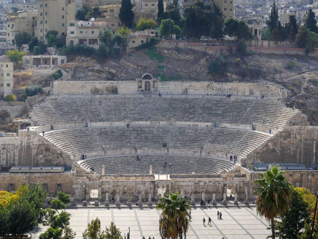 Amman - descente citadelle vers théâtre