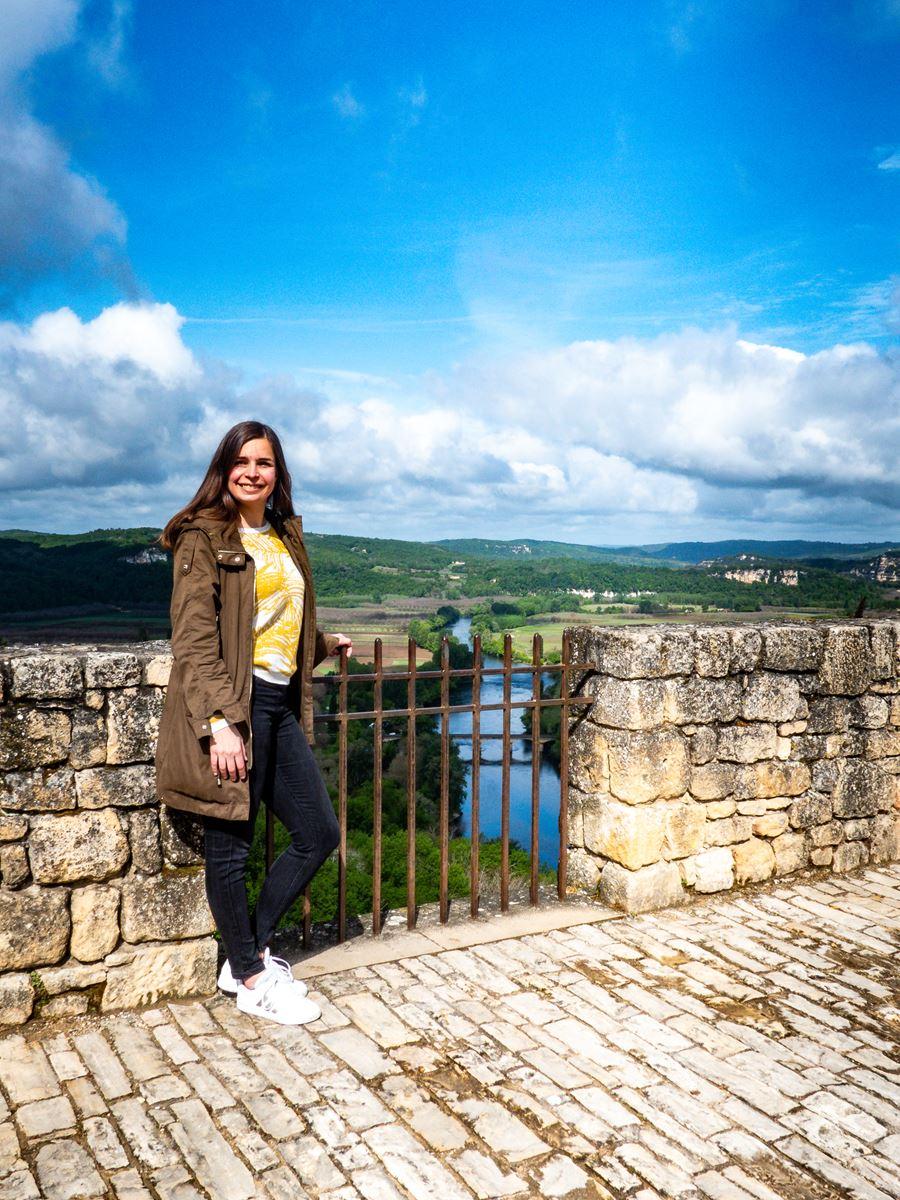 Domme - vue sur la Dordogne