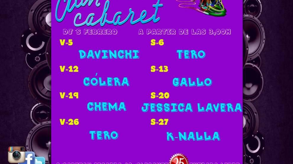 Cartel DJ Febrero