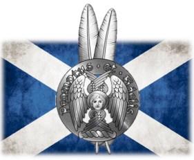 clan crest and saltire