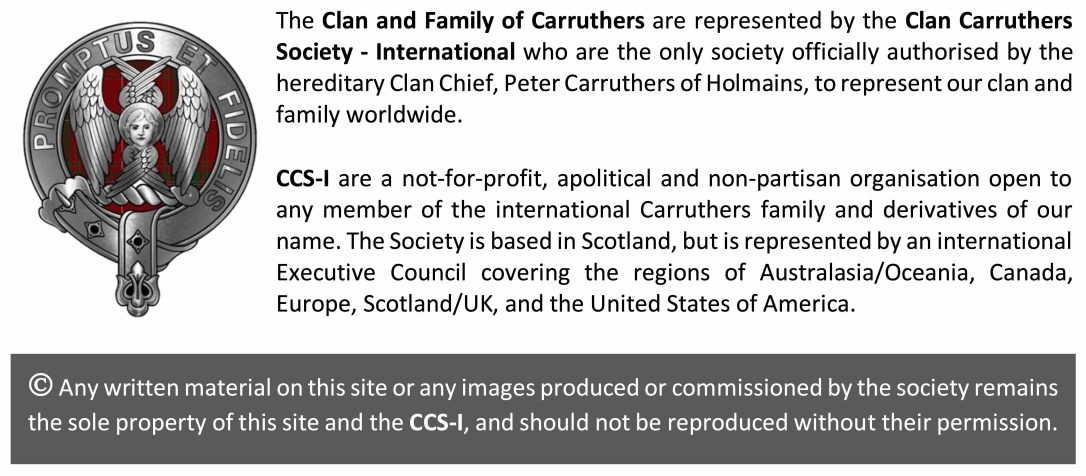 Clan Carruthers Society WP footnote grey Final to use