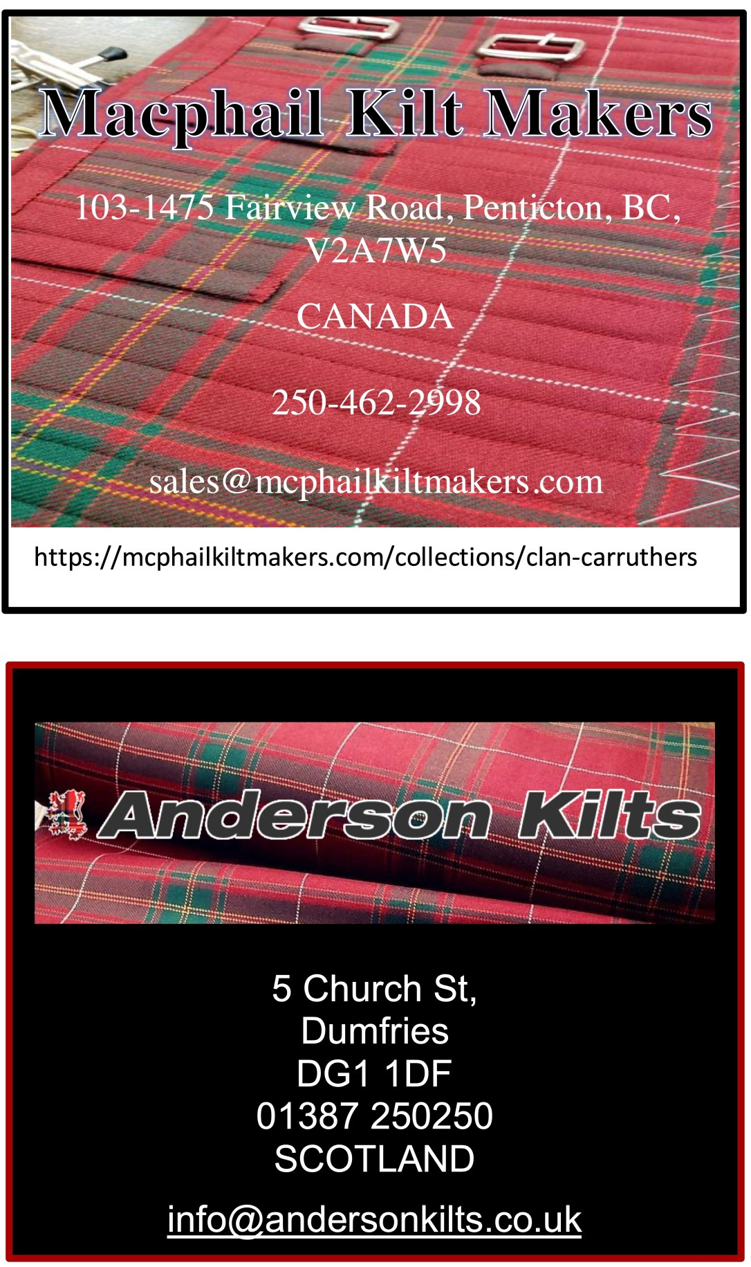Tartan Supplier adds