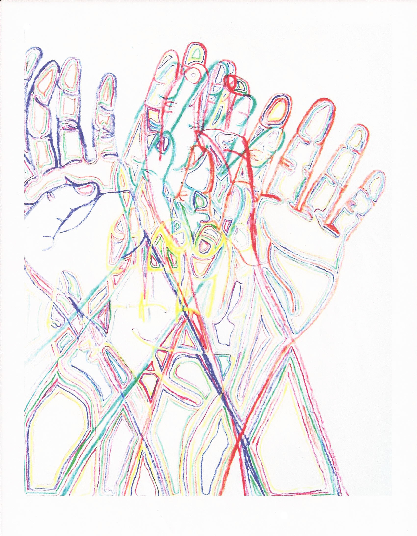Line Drawings Drawing Your Hands