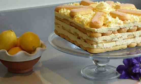 No bake Lemon sponge fingers icebox cake