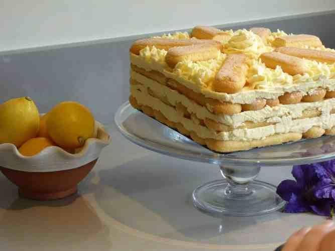 Lemon sponge fingers icebox cake