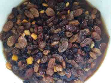 Mixed Dried fruit soaking in Yorkshire Tea
