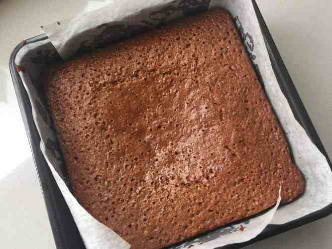 Baked Parkin fresh from the oven.