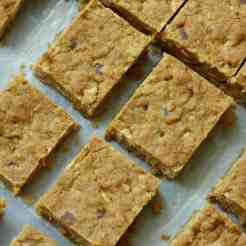 Square slices of Cookie bars