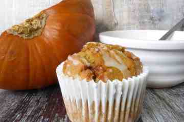 Pumpkin Muffin with fresh roasted Pumpkin
