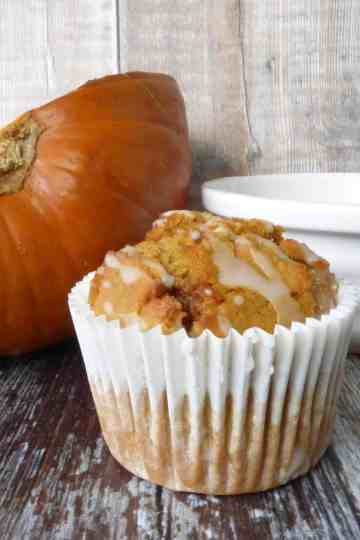 Pumpkin Muffin with fresh roasted Pumpkin
