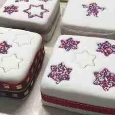Fondant covered cakes