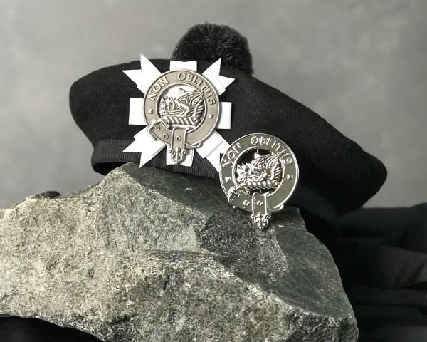 Cap badge on cap