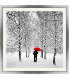 Man walking in Snow, Pictures Newry